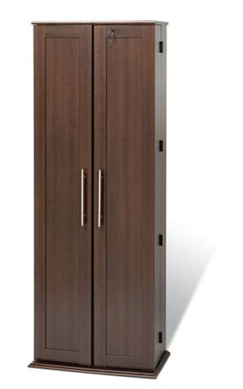 espresso locking media storage cabinet with shaker doors prepac grande locking media storage cabinet with shaker
