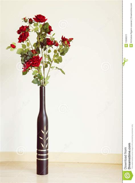 flower vase on the floor in the room stock image image