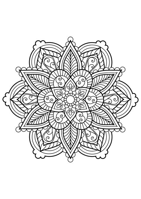how to color mandalas mandala from free coloring books for adults 28 m alas