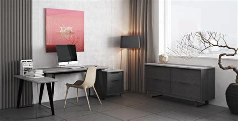 urbano gray concrete modern office desk return sobe