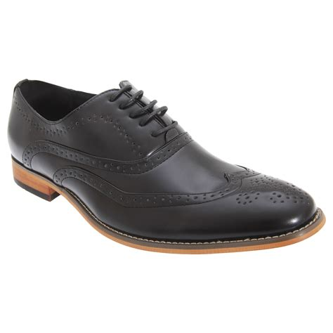goor mens lace up 5 eyelet brogue oxford formal dress shoes sizes 7 13 3 colors ebay