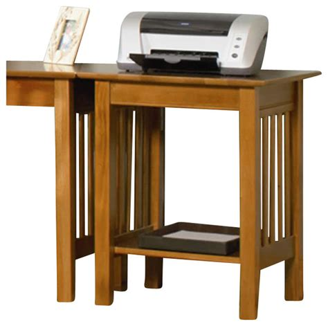 atlantic furniture mission printer stand in caramel latte