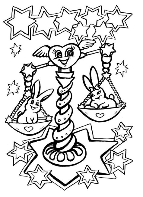 Signs of the zodiac coloring pages to download and print