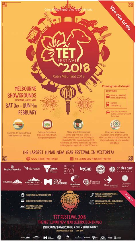 new year melbourne food lunar new year tet festival 2018 melbourne