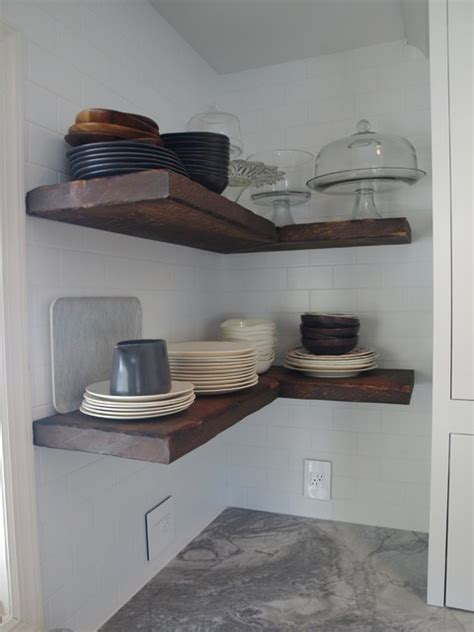 floating kitchen island houzz reclaimed wood floating shelves farmhouse new york
