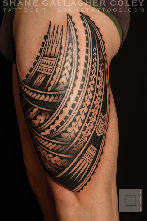 tribal leg sleeve tattoos tribal thigh tattoos tribal band thigh polynesian