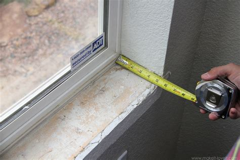 How To Make An Interior Window Sill Home Improvement Trimming A Window Replacing The Sill