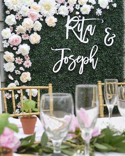Wedding Backdrop With Names by Backdrop Wedding Sign Laser Cut Wedding Sign Script Name