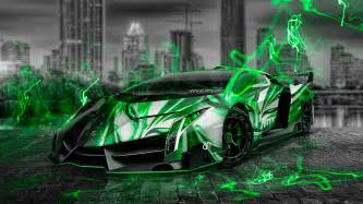 lamborghini veneno anime aerography city car 2014