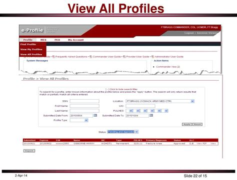 Medpros Help Desk by Ppt Electronic Profile E Profile Overview For Units