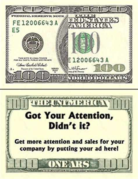 100 Bill Business Cards