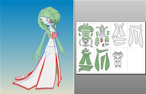 Gardevoir Papercraft - gardevoir unfold by amigolol on deviantart