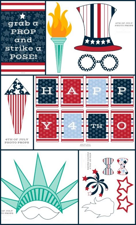 printable photo booth props 4th of july 4th of july photo booth props free printable
