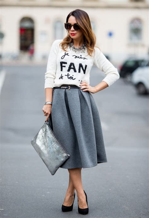 fashion trend midi skirts style motivation