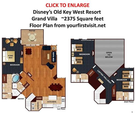 key west grand villa floor plan grand villa floor plan disneys key west resort from