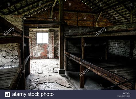 auschwitz rooms barrack inside living room at concentration c auschwitz birkenau stock photo royalty free