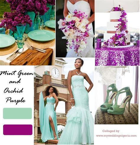 Orchid Purple and Mint Green Color Palette   Color your
