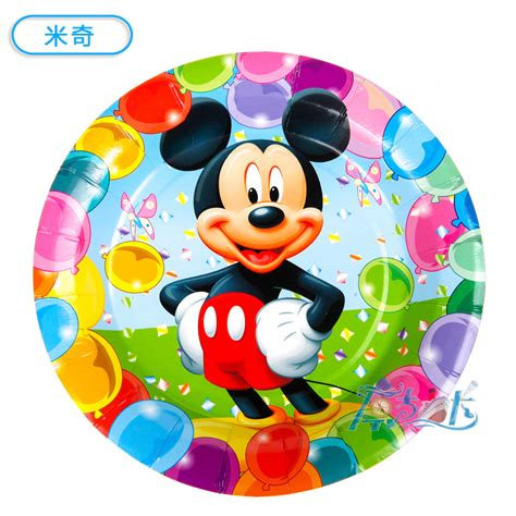 Paper Plates 7 Mickey Isi 8 6pcs 7inch diameter 18cm mickey mouse design paper plates for birthday decoration