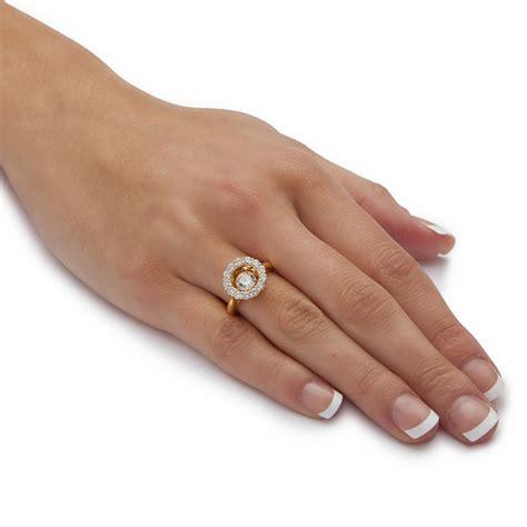 palmbeach jewelry 1 76 tcw cz in motion ring 14k gold