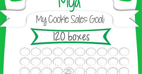free printable goal poster fashionable moms girl scout cookie sales free printable