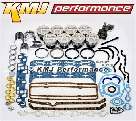 small block chevy  engine rebuild overhaul kit  pistons rings bearings ebay
