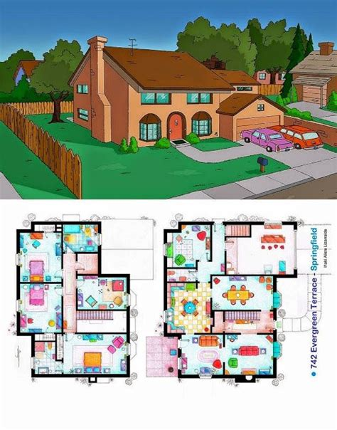 wondered about the floor plan of the simpsons house