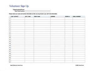 Volunteer Sign Up Sheet Template search results for volunteer sign up sheet calendar 2015