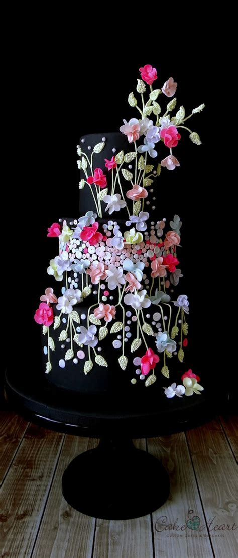 Black Wedding Cake Flowers by 121 Amazing Wedding Cake Ideas You Will Cool Crafts