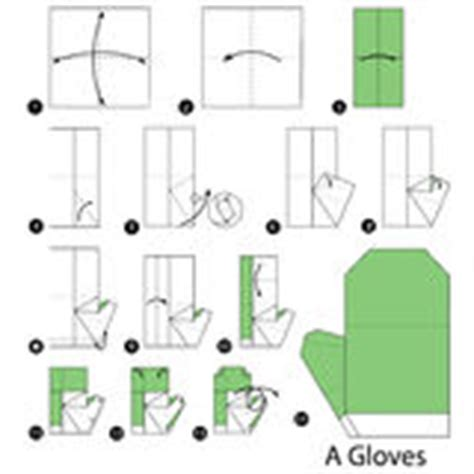 How To Make Origami Gloves - step by step how to make origami a gloves