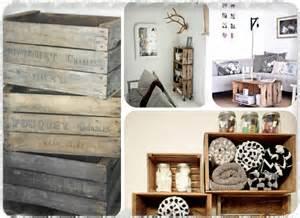 decoration articles des caisses de bois dans la d 233 co aventure d 233 co