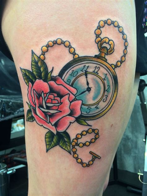 traditional pocket watch tattoo traditional pocketwatch things i