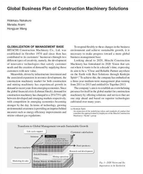 41 Plan Sles Templates Sle Templates Construction Business Plan Template Pdf