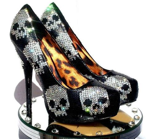 63 best images about skull high heels on iron