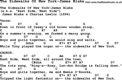 song nyc summer c song the sidewalks of new york james blake