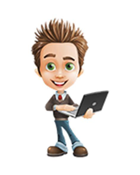 Bewerbungsabsage Fehler Der Mustermann Als Figur Mit Laptop