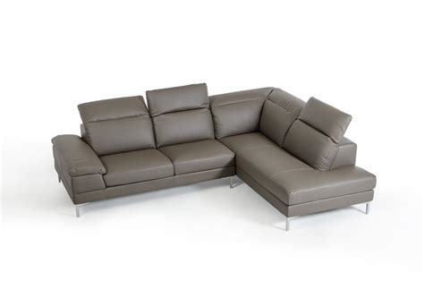 eco couch carnation modern grey eco leather sectional sofa