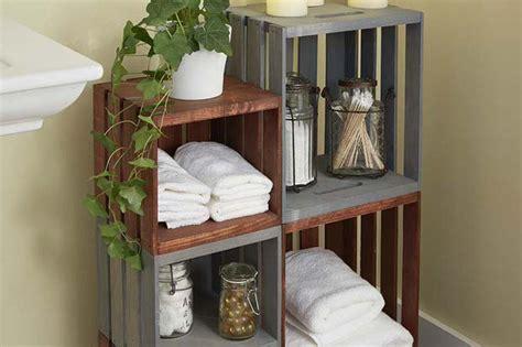 homemade bathroom decor diy bathroom decor storage the budget decorator