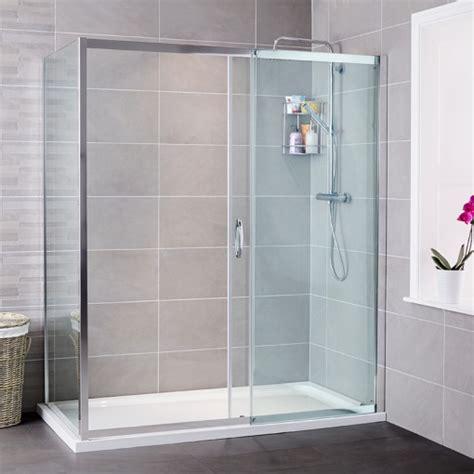 Shower Enclosures Sliding Doors Aquafloe Iris 8mm 1700 X 800 Sliding Door Shower Enclosure