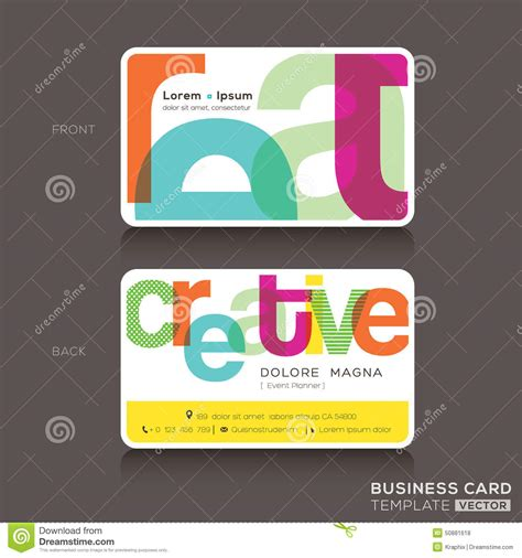 Gift Card Design Template - creative business cards design template stock vector image 50881618