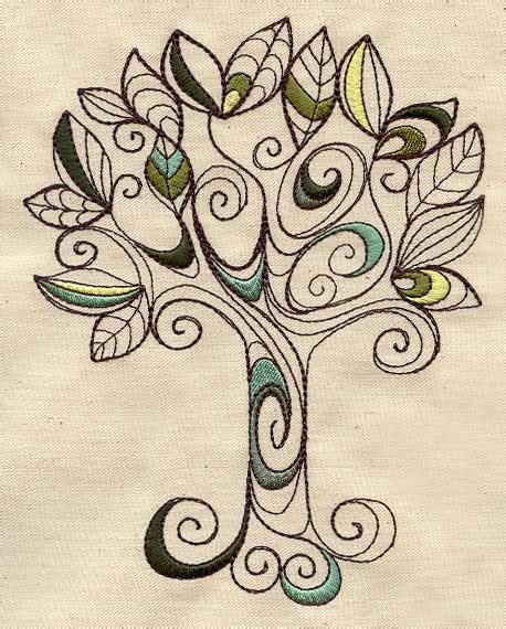 free doodle embroidery designs embroidery patterns tree makaroka