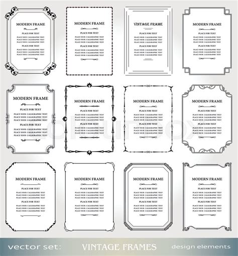 book layout elements vector vintage frames and borders set victorian book