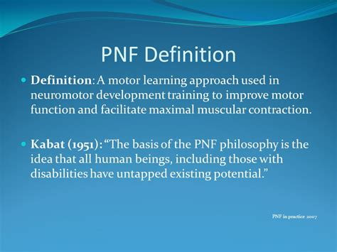 pattern learning definition proprioceptive neuromuscular facilitation ppt video