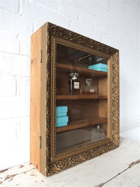 vintage bathroom wall cabinet or glass display ebay