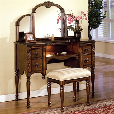 Vanity Set With Stool And Mirror by Acme Furniture Ashton Vanity Table Stool And Mirror Set Sol Furniture Vanity