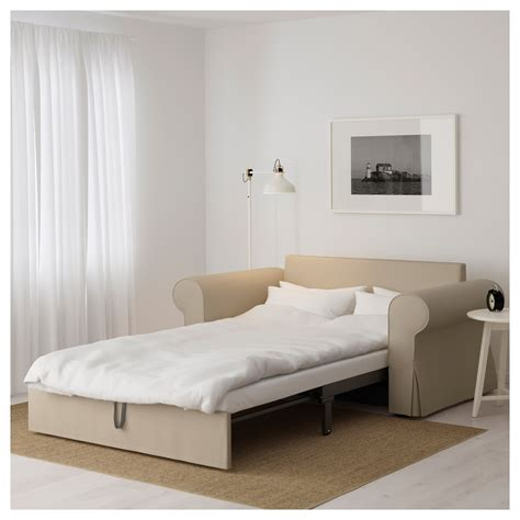 sofa bed seat backabro two seat sofa bed ramna beige ikea