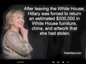 Hillary Clintons House by Hillary Clinton Stole 200 000 In White House Furnishings