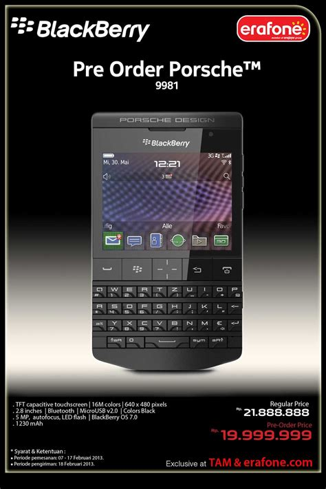 Hp Blackberry Porsche harga blackberry porsche design p 9981 buyers guide