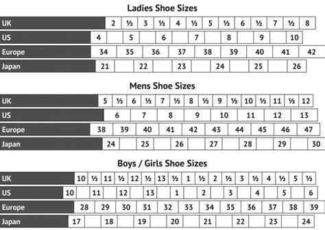 shoe size chart net a porter chart shoe size chart