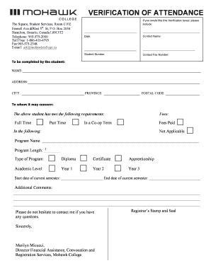 Verification Letter Of Attendance deia1989 hotmailcom fill printable fillable
