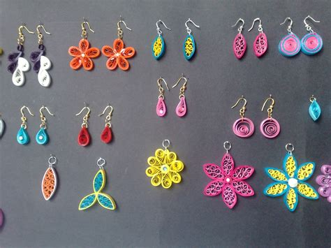 quilling paper earrings tutorial in tamil sathyacraft quilled jewellery